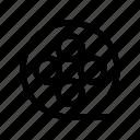 movie, movie reel, reel icon