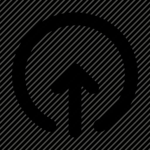 arrow, film, share, up arrow, upload icon