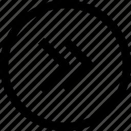 arrow, circle, direction, next, right icon