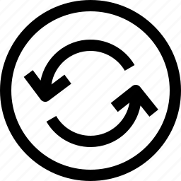 arrow, arrows, circle, direction, upload icon