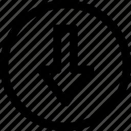 arrow, arrows, circle, direction, download, move icon
