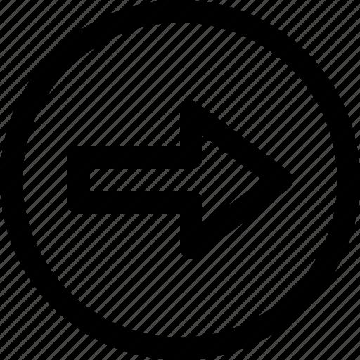 arrow, circle, direction, move, right icon