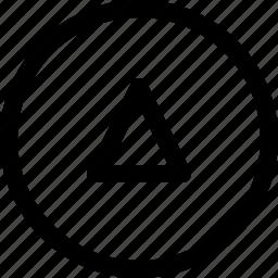 arrow, circle, direction, up, upload icon