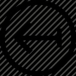 arrow, arrows, circle, left, navigation icon