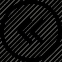 arrow, circle, left, navigation, pointer icon