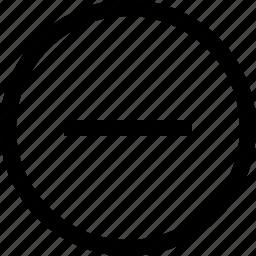 arrow, back, circle, delete, move, remove icon