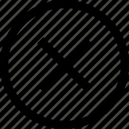 circle, cross, delete, remove, x icon