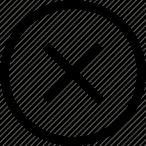Circle Cross Delete Remove X Icon Icon Search Engine