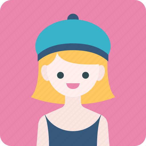 Avatar, girl, hat, profile, woman icon - Download on Iconfinder