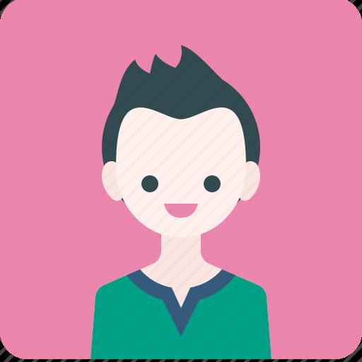 avatar, boy, human, man, people, profile, smile icon