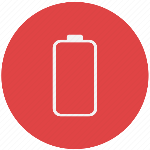 battery, battery indicator, empty battery, energy, power icon