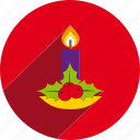 candle, christmas, circle, decoration, holiday, xmas icon