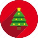 christmas, circle, holiday, holidays, pine, tree, xmas icon