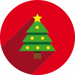 christmas, circle, pine, tree icon