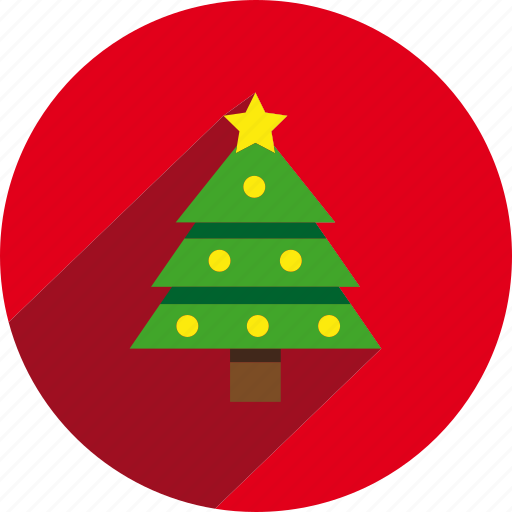 Christmas Tree Facebook Icon: Christmas, Circle, Holiday, Holidays, Pine, Tree, Xmas Icon