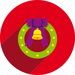 christmas, circle, decoration, holiday, wreath, xmas icon