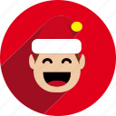 christmas, circle, elf, santa helper icon