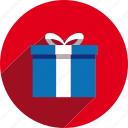 box, christmas, circle, gift, holiday, present, xmas icon