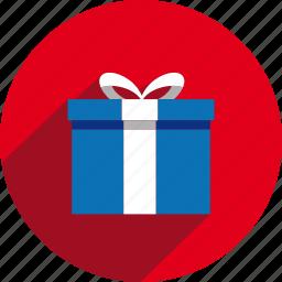 box, christmas, circle, gift, holiday, present, xmas icon