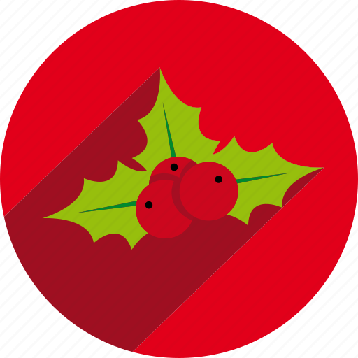 circle, mistletoe icon