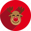 christmas, circle, holiday, reindeer, santa, sled, xmas icon