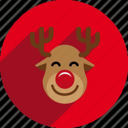 christmas, circle, sled icon