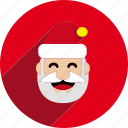 christmas, circle, holiday, santa, santa claus, xmas icon