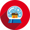 ball, christmas, circle, decoration, snow, xmas icon