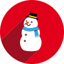 christmas, circle, decoration, snow, snowman, winter, xmas icon