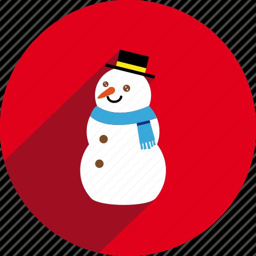 circle, snow, snowman icon