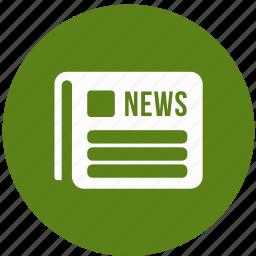 journal, magazine, media, news, newspaper icon