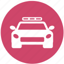 car, law, police, police car, police vehicle, vehicle icon