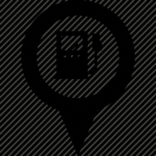 address, circle, destination, gas station, gasoline, map, pin icon