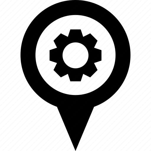 adress, circle, destination, job, map, pin, work icon