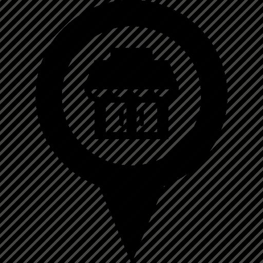adress, circle, destination, mall, map, pin, store icon