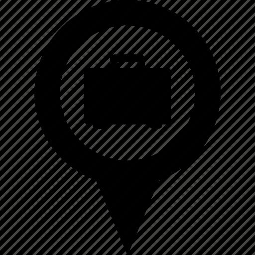 adress, business, circle, destination, job, map, pin icon
