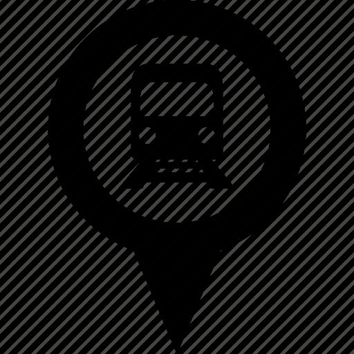circle, destination, map, metro, pin, subway, train icon