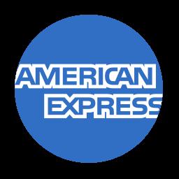american, circle, express icon