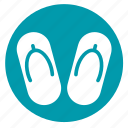 flipflop, footwear, sandal, slippers, spa icon