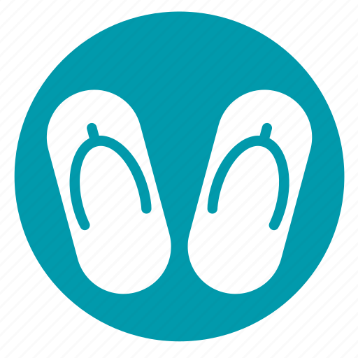 flipflop, footwear, sandal, slippers, spa icon