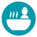 bath, bathtub, immersion spa, relax, relaxation, soaking spa, spa icon