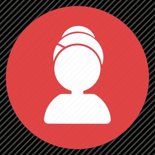 avatar, beauty, customer, girl, sauna, spa, waiter icon