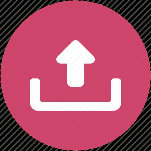 arrow, browser, development, programming, upload, web, website icon