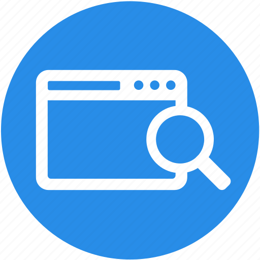 browser, page, search, search engine, seo, web, website icon