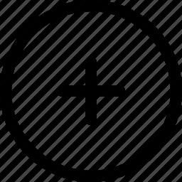 add, attach, circle, plus, plus sign icon