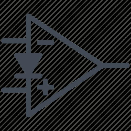 circuit, diagram, electric, electronic, norton amplifier, ota, transconductance amplifier icon
