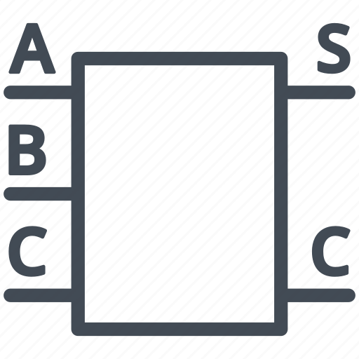 adder, circuit, diagram, electric, electronic, logic icon