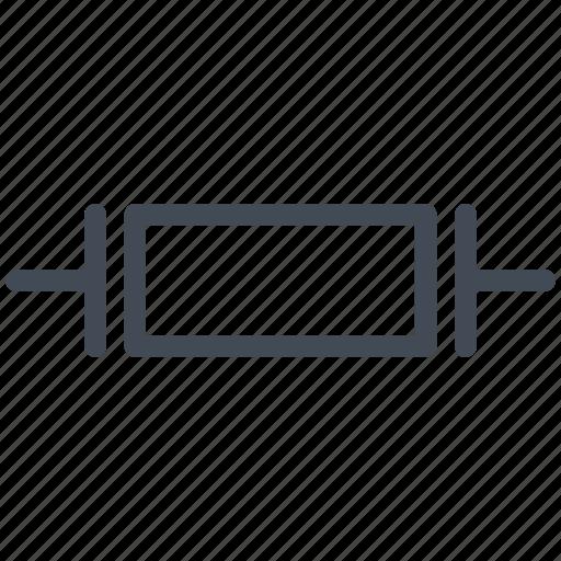 circuit, crystal oscillator, diagram, electric, electronic, piezoelectric crystal icon