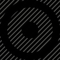 circle, circular, dot, round, shape icon