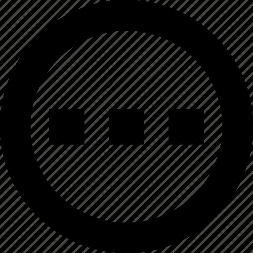 circle, expand, horizontal, menu, more icon